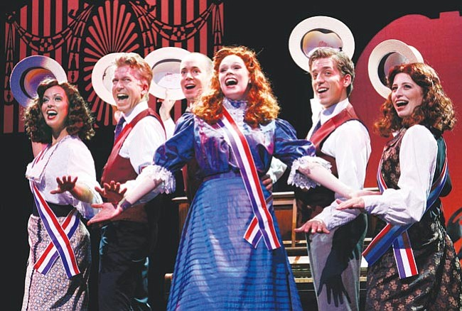 "Courtesy <br> ""I Love a Piano"" cast members tip to their hats to Berlin's iconic melodies."