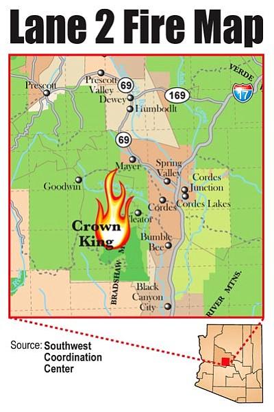 Lane Fire Map.Lane 2 Fire Update The Daily Courier Prescott Az
