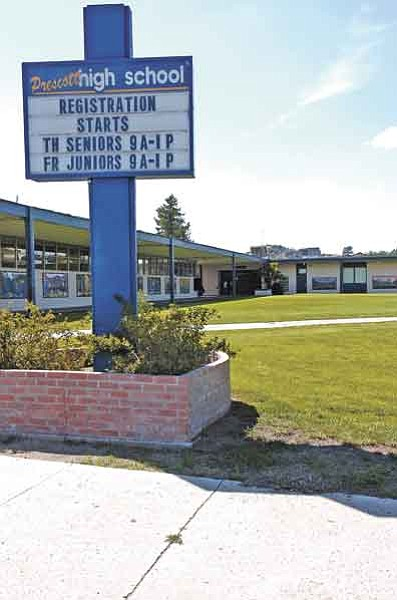 Jo. L. Keener/The Daily Courier<br> The Prescott school board will decide the fate of Prescott High School in August when it decides whether to build a new high school campus.