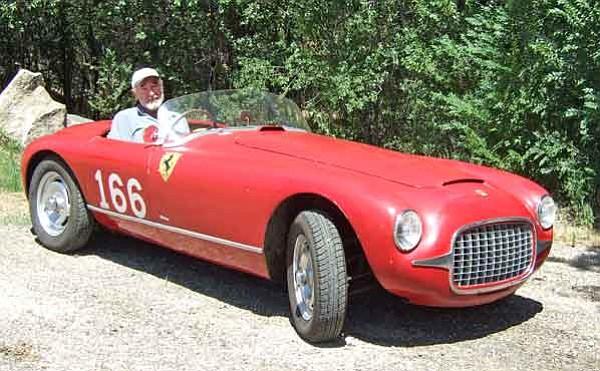 Janet Travis/Courtesy<p> Prescott Antique Auto Club member Ed Willimann sits inside his 1947 Ferrari Model 125, the oldest known Ferrari.