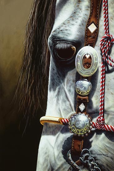 "Courtesy<p> Shannon Lawlor won first place in the 2007-08 International Equine Art Competition with ""Cholo."""