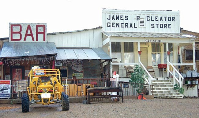 Joanna Dodder/The Daily Courier<p> Cleator was a railroad stop on the way to the Crown King area mines in the old days. Today it's home to about a dozen hardy folks, and the Cleator Bar is the only stop in town for tourists on their way up to Crown King.