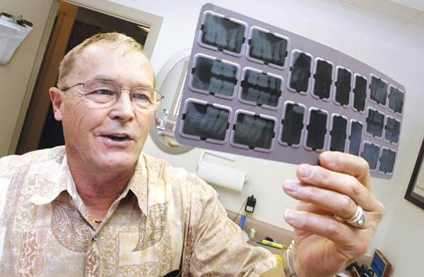 Les Stukenberg/The Daily Courier<p> Prescott dentist Dr. Dale Ring has maintained his dental office in the same location on Hillside Avenue for 40 years bginning on August 13, 1968. RIng who still enjoys an active lifestyle, was once known as the flying dentist as he flew his private plane around Yavapai County providing dental care, also foiled a bank robbery in 1973.