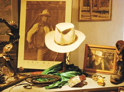Courtesy<br> Items on display include John Wayne's cowboy hat, which he wore in many films.
