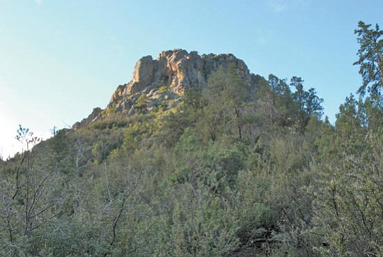"Courtesy<br> Thumb Butte, Prescott's most famous landmark, quickly comes into clear view on the Loop No. 33 trail, which is one of 12 hikes in the first-ever ""Take a Hike!"" Hiking Spree 2008 that the Highlands Center for Natural History and the Prescott National Forest are offering this fall."