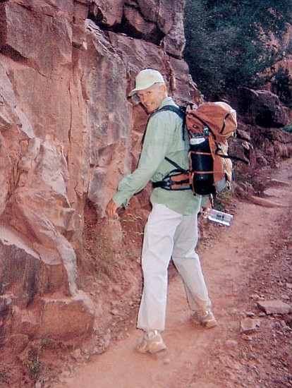 Courtesy photo Bill Kathan hiked the Grand Canyon – from rim to rim – going backwards, with his head turned to the side.