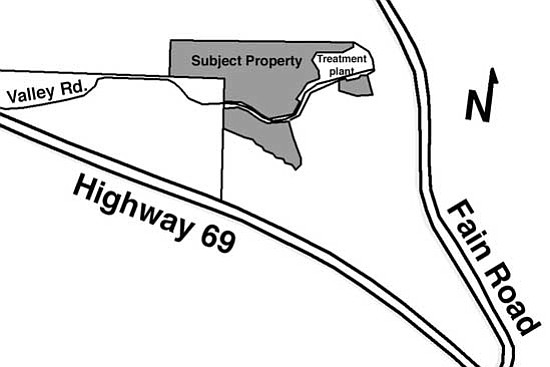 The Daily Courier<p> The subject property is 230 acres on both sides of Valley Road from Mendecino Drive to Fain Road.