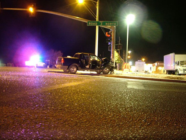 Courtesy photo / Chino Valley Police Department<br> Feleshia Brabham, 22, died after this Ford Explorer pickup hit the vehicle she was in on Highway 89 at about 5:30 p.m. Saturday.