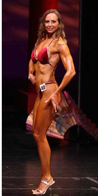 "Courtesy photo<br> Pamela Liuzzo competes in a body building competition in March 2007. She offers advice in this ""Simply Fit"" blog to help others achieve their fitness goals."