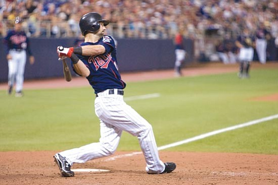 Minnesota Twins/<br>Courtesy<br>After a stellar high school career and solid minor league career, Jason Pridie got the call every baseball player dreams about when the Minnesota Twins gave him a big league roster spot this past September.