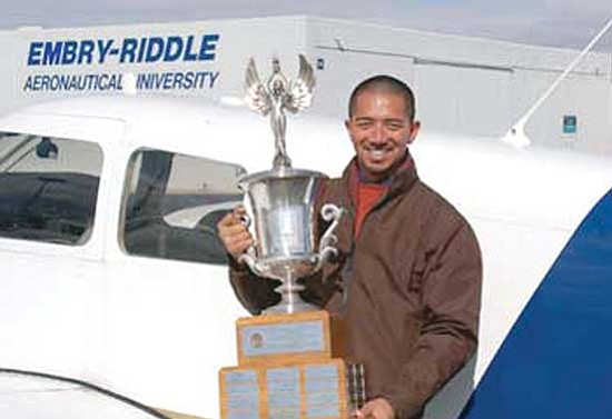 "Courtesy photo<br> Embry-Riddle Aeronautical University graduate and flight instructor Solomon ""Sol"" Kaawaloa is the Federal Aviation Administration's ""Flight Instructor of the Year."""