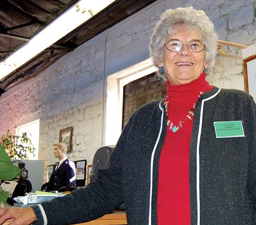 Ash Fork Historical Society President Fayrene Hume, 71, maintains the society's museum in the town, an unincorporated community 50 miles north of Prescott, along with 10-plus volunteers, most of whom are seniors.  Doug Cook/The Daily Courier
