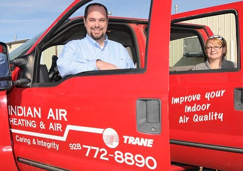 Les Stukenberg/The Daily Courier<br> Jason and Christine Parkis, owners of Indian Air in Prescott Valley.
