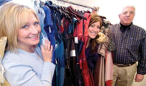 Les Stukenberg/The Daily Courier<p> JoAnne Golleher and Jamie Goeringer, owners of Smart Girls Resale Fashion in Prescott Valley, opened their business in December, getting planning help from SCORE management counselor Joe Van Bourgondien.