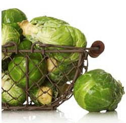 Beautiful Brussels sprouts... just waiting to be roasted.