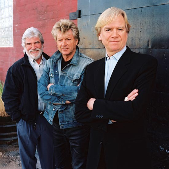 The Moody Blues are, from left to right, Graeme Edge, John Lodge and Justin Hayward.
