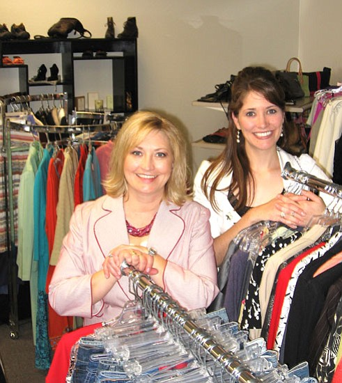 Jason Soifer/ The Daily Courier<p> Jamie Goeringer (left) and her daughter, JoAnne Golleher, opened Smart Girls Resale Fashion store in Prescott Valley in December.