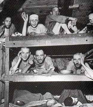 Courtesy photo<br> Survivors of Buchenwald.