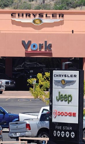 Les Stukenberg/The Daily Courier<p> Chrysler announced the closing of over 700 dealerships across the country yesterday. York Motors was not on the list.