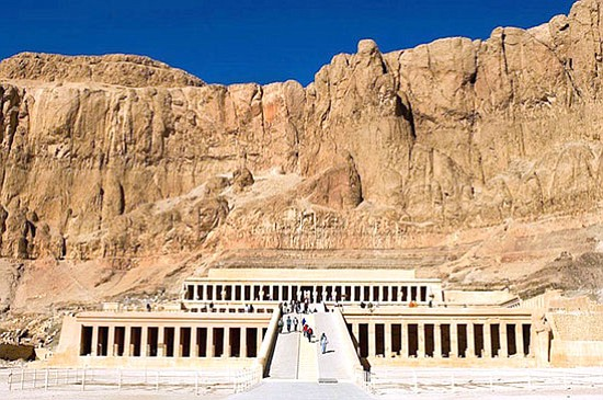 Courtesy photo<p> This temple honors Hatshepsut, Egypt's only woman pharaoh and the first woman ever to reign. The monument, considered one of the finest buildings in the world, is carved into the limestone cliffs of the Theban Mountain.