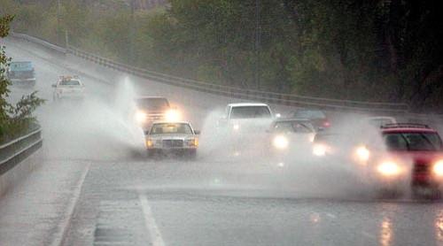Les Stukenberg, file photo/The Daily Courier<p> Drivers make their way south along Montezuma Street toward downtown Prescott near Granite Creek Park during a July 2004 rainstorm.