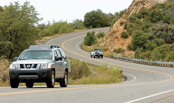 Matt Hinshaw/The Daily Courier<br> Groups or individuals can nominate county roads for scenic and historic designation through a new program called Yavapai County Scenic/Historic Route Program. County roads in the unincorporated areas of the county are eligible for nomination, such as this section of Iron Springs Road going toward Skull Valley.