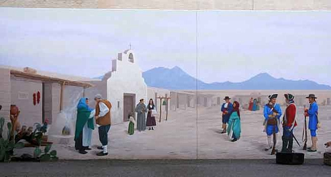 Sharlot Hall Museum/Courtesy The El Presidio San Augustin del Tucson mural by Bill Singleton, a 13 by 53-foot depiction of life at the presidio, is located at Tucson Origins Heritage Park at Washington Street and Church Avenue.