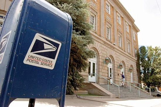 Matt Hinshaw/<br>The Daily Courier<br>The postal service is anticipating a revenue shortfall of about $6 billion by the end of the fiscal year ending Sept. 30. As a result, the Goodwin Street Post Office in Prescott is on a list of possible closures.