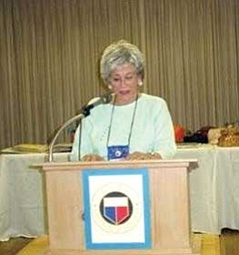Courtesy photo<br> Barbara Thomasson gave the history of the club, which formed when Arizona was still a territory.