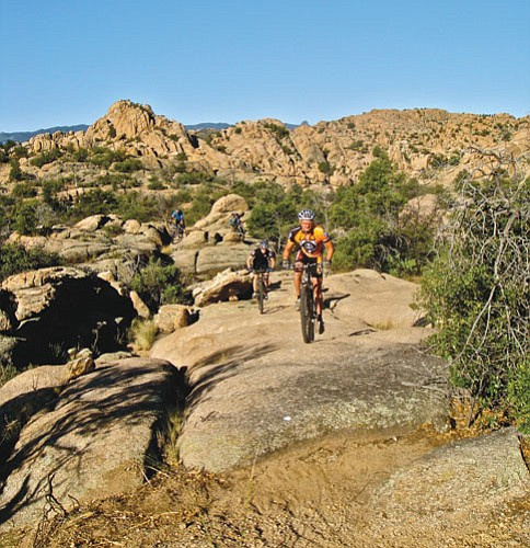 City of Prescott/Courtesy photo<p> The new Lakeshore Trail near Watson Lake runs more than two scenic miles through rocks.