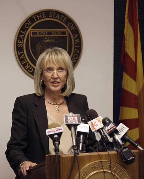 The Associated Press<br> Arizona Gov. Jan Brewer