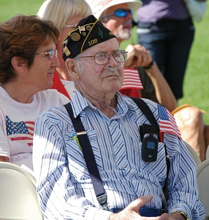 Prescott Valley Tribune/Courtesy photo<br> William Keith Staker, a World War II veteran, is seen at the 2008 Patriot Day event in Prescott Valley. Staker died this past weekend at the age of 85.