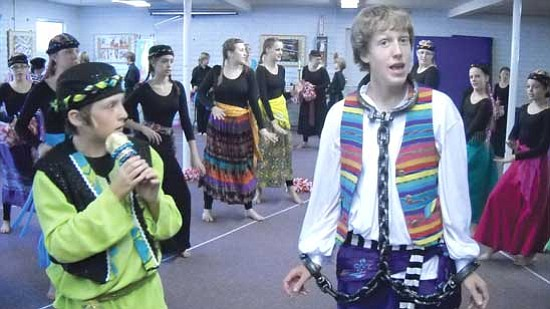 """Courtesy photo<br>A cast of more than 70 area youth rehearse their paces for """"Joseph and the Amazing Technicolor Dreamcoat,"""" which plays Sept. 25-26 at Yavapai College."""