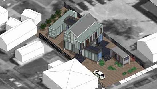 Ecosa Design Studio/Courtesy<br> This is a color rendering of the roughly 2,000-square-foot home under construction in Flagstaff.