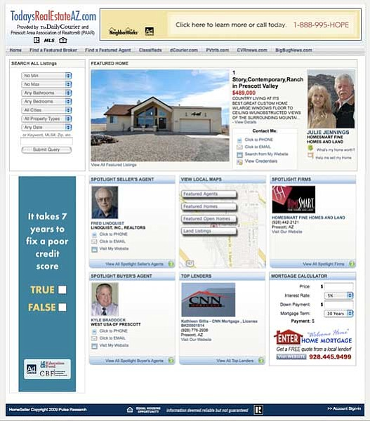 The mapping site, TodaysRealEstateAZ.com enables computer users to search for homes and other properties in the Quad-city area using any number of search parameters -- from price and location to number of bedrooms or bathrooms.