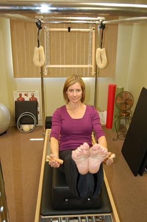 Jason Soifer/The Daily Courier<p> Suzanne Fisher opened Pilates in Balance in Prescott earlier this month.