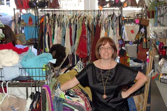 Jason Soifer/<br>The Daily Courier<br>Sadira Conley owns and operates Snap Snap in Prescott. Her store features men's and women's resale clothing and accessories.