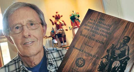 Les Stukenberg/<br>The Daily Courier<br>Ray Ver Velde recently received a Distinguished Education Award for Excellence.