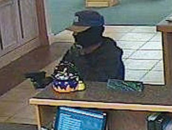 Federal Bureau of Investigation/Courtesy photo<p> Surveillance images show the primary suspect in the robbery of Country Bank in Prescott Valley on Oct. 30 (top); Arizona Central Credit Union in Flagstaff on Oct. 14 (middle); and Compass Bank in Payson on Nov. 25 (bottom).