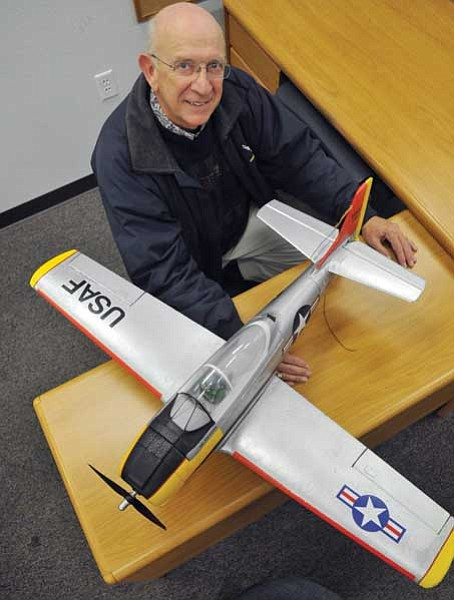 Les Stukenberg/The Daily Courier<br> Bob Shanks, a member of the Chino Valley Model Aviators, earned the Carl Goldberg Vital People Award for 2009.