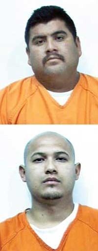 (TOP) Emilio Lopez-Burgos, 30, of New Mexico, and (ABOVE) Isai Villasenor, 27, of Colorado.