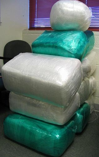 Courtesy the Yavapai County Sheriff's Office Yavapai County Sheriff's deputies found several bundles of marijuana that weighed slightly less than 275 pounds during a traffic stop.