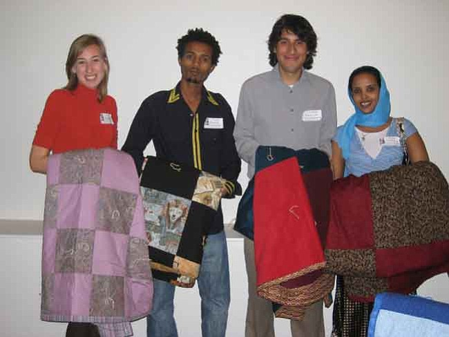 Courtesy photo From left to right are Aubree, AmeriCorps VISTA Member; Awot, refugee from Eritrea; Gabriel, AmeriCorps VISTA Member; and Sahra, refugee from Somalia.