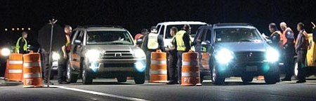 Courier file<br>Holiday DUI checkpoint stops were up from last year, as were the number of arrests from Thanksgiving to New Year's Eve.