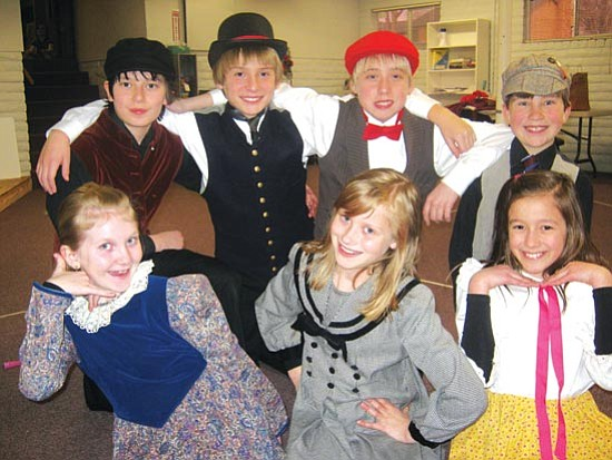 "Monica Kaplan/Courtesy<br> Young performers, top row, from left, Alex Robles, Elliot Beck. Josh Lutz and Wesley Bradstreet, and bottom row, from left, Olivia Keating, Rachel Kaplan and Liz Aranda will be among the cast for Young Star Musical Theatre's production, ""Broadway Today,"" Jan. 22 and 23 at the Yavapai College Performance Hall."