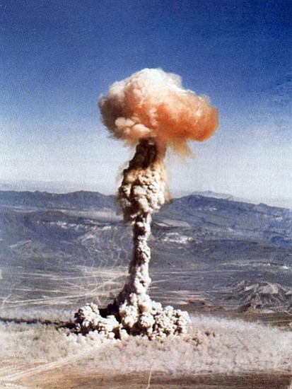 Courtesy/Nuclear Weapon Archive<p> A B-45 bomber dropped a 19-kiloton nuclear bomb May 1, 1952, at the Nevada Test Site shown in this photograph. Representatives from the Radiation Exposure Screening and Education Program (RESEP) discuss ways to identify possible victims of radiation poison and how to file a claim against the U.S. Government 9 a.m. Thursday at Sharlot Hall Museum Library and Archives, 115 S. McCormick St., in Prescott. The discussion is free and open to the public.