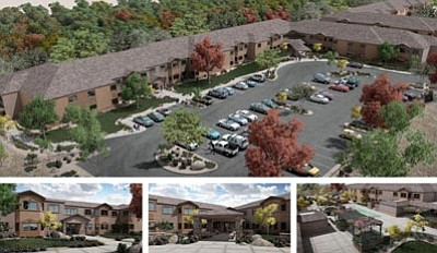 B. Spreitzer/Courtesy illustration<br/>In this rendering of the Sungate Villa II Senior Community in Prescott Valley, the upper right corner shows a portion of the roof of the first phase and the lower right shows the connection between phases one and two. Construction of the second phase began in January and runs through this fall.<br/><br/>