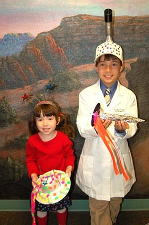 Joanna Dodder/The Daily Courier<br />Children enjoyed making rockets, spaceships and fanciful hats during past Spotlight on the Stars events.<br />