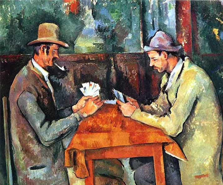The Card Players by Paul Cézanne (Public Domain)