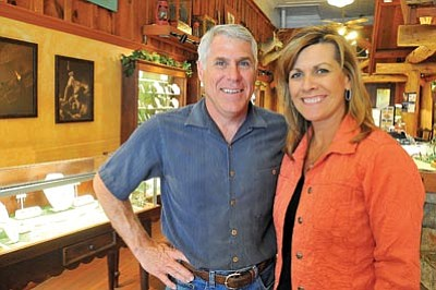 Matt Hinshaw/The Daily Courier<br> Dave and Sherrie Rabellino have owned and operated The Artful Eye Jewelers in Prescott for the past 15 years.